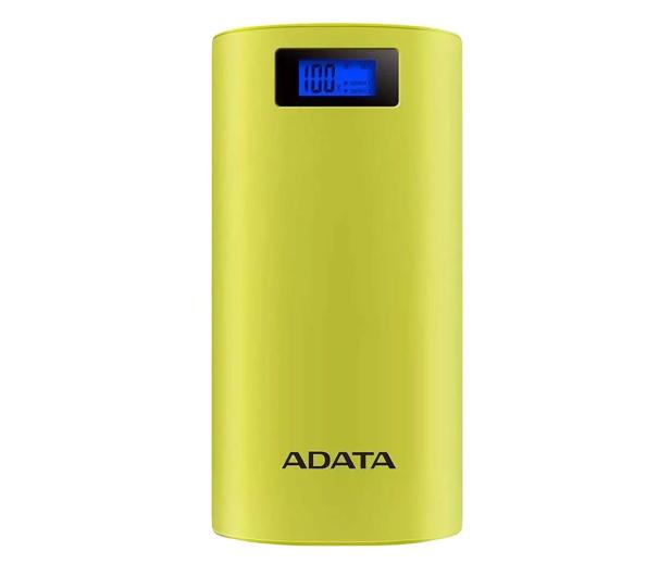 ADATA Power Bank P20000D 20000mAh 2.1A (żółty) - 518796 - zdjęcie