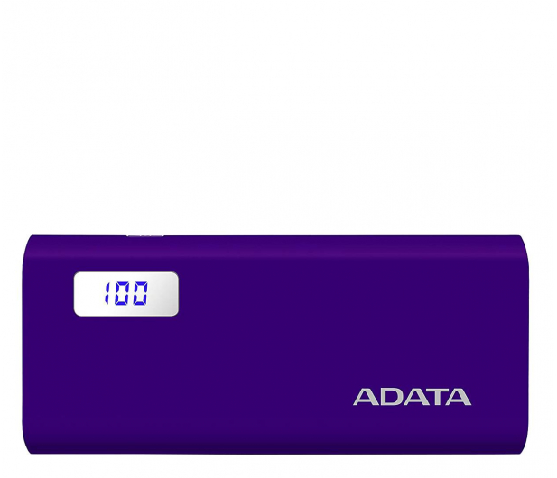 ADATA Power Bank P12500D 12500mAh 2A (fioletowy) - 518805 - zdjęcie