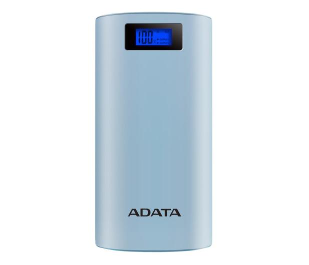 ADATA Power Bank P20000D 20000mAh 2.1A (niebieski) - 518795 - zdjęcie