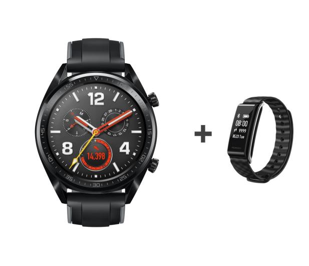 Huawei Watch GT czarny + Band A2 czarny - 521625 - zdjęcie