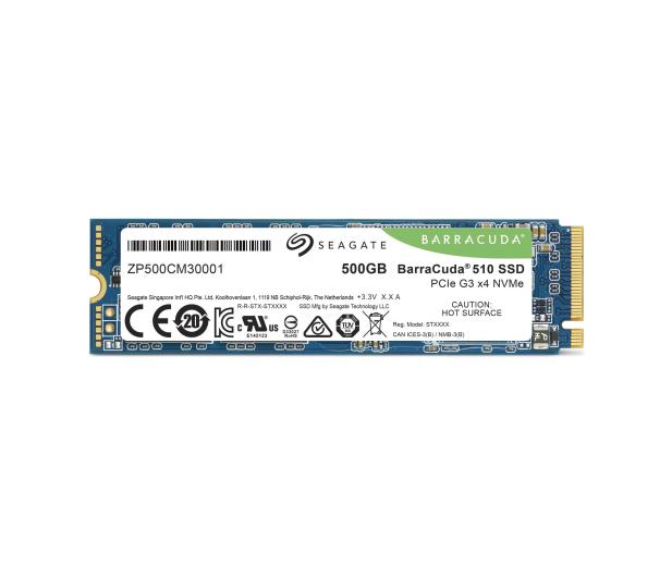 Seagate 500GB M.2 PCIe NVMe BarraCuda 510 - 527888 - zdjęcie 3