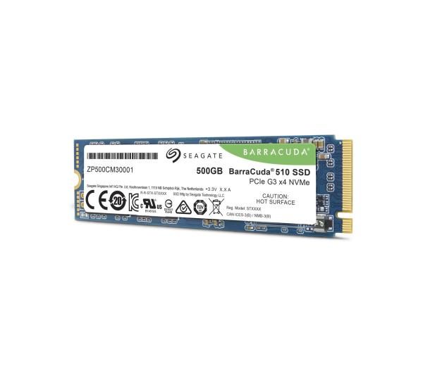 Seagate 500GB M.2 PCIe NVMe BarraCuda 510 - 527888 - zdjęcie 4