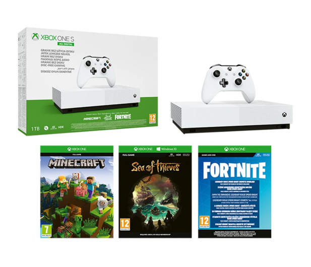Microsoft Xbox One S 1TB All-Digital Edition - 514268 - zdjęcie