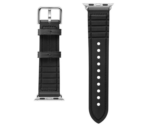 Spigen Pasek Skórzany Retro Fit do Apple Watch czarny - 527314 - zdjęcie 3