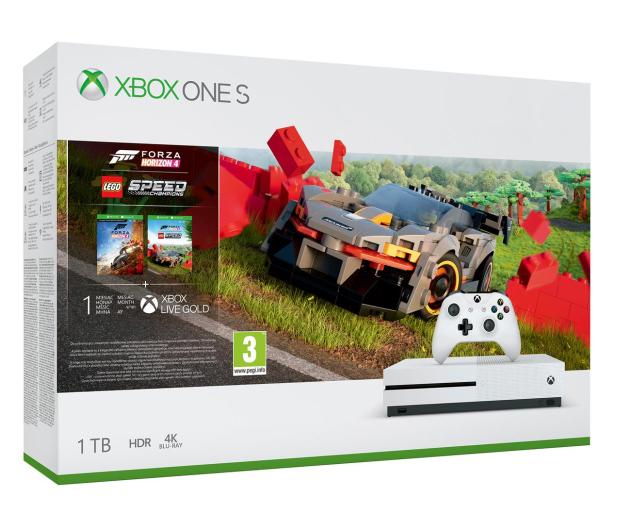 Microsoft Xbox One S + Forza Horizon 4 + LEGO DLC - 527654 - zdjęcie