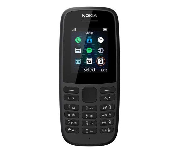 Nokia 105 2019 Dual SIM czarny - 529064 - zdjęcie 2