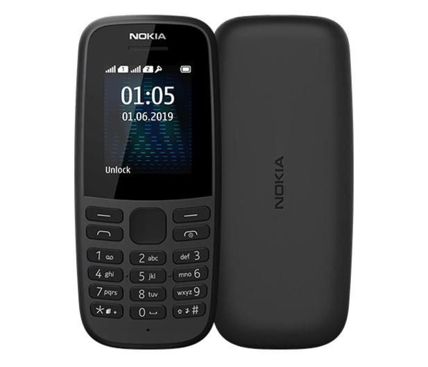 Nokia 105 2019 Dual SIM czarny - 529064 - zdjęcie