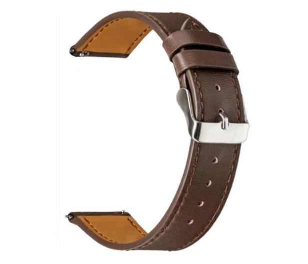 TOPP Pasek do smartwatcha Nylon Pleciony ciemno-brązowy - 528048 - zdjęcie