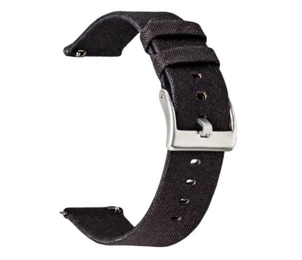 TOPP Pasek do smartwatcha Nylon Pleciony czarny - 528067 - zdjęcie