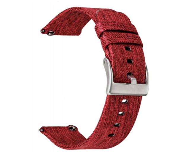 TOPP Pasek do smartwatcha Nylon Pleciony czerwony - 528046 - zdjęcie