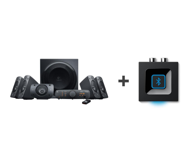 Logitech 5.1 Z906 + Bluetooth Audio Adapter - 528645 - zdjęcie