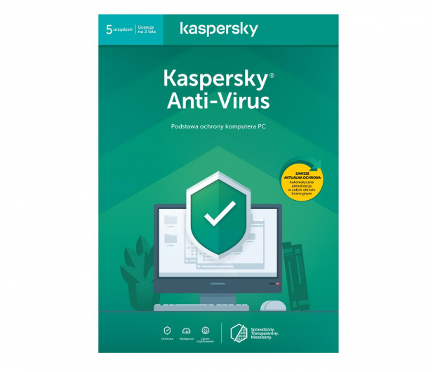 Kaspersky Anti-Virus 5st. (24m.) ESD  - 410845 - zdjęcie