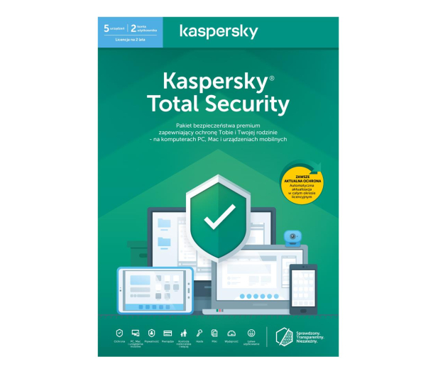 Kaspersky Total Security Multi-Device 5st. (24m.) ESD - 550050 - zdjęcie