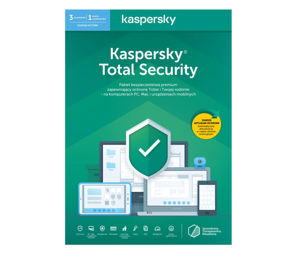 Kaspersky Total Security Multi-Device 3st. (24m.) ESD - 410857 - zdjęcie 1