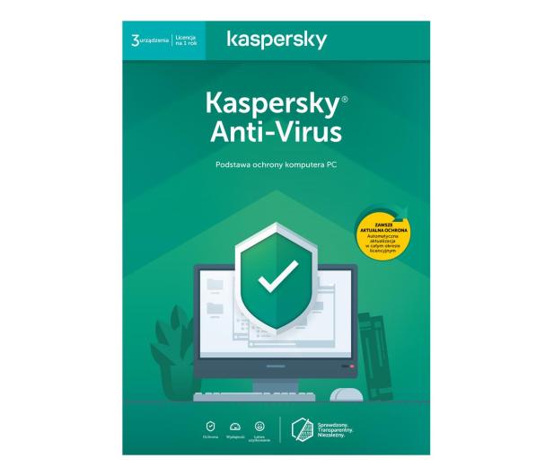 Kaspersky Anti-Virus 3st. (12m.) ESD - 550015 - zdjęcie