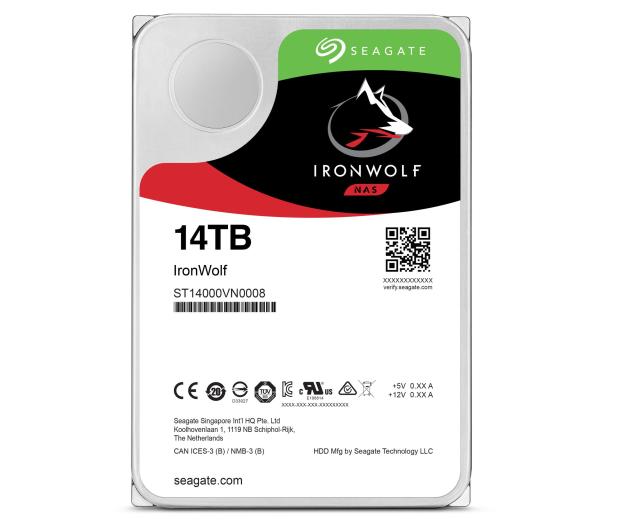 Seagate IRONWOLF 14TB 7200obr. 256MB  - 488300 - zdjęcie 2