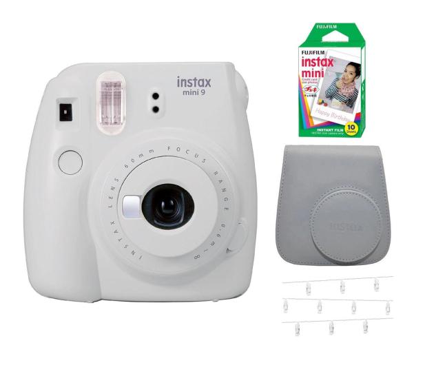 Fujifilm Instax Mini 9 biały Wkład+ Etui+ Klamerki - 529457 - zdjęcie
