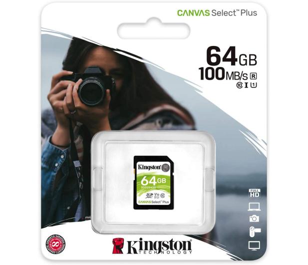 Kingston 64GB Canvas Select Plus odczyt 100MB/s - 529851 - zdjęcie 3