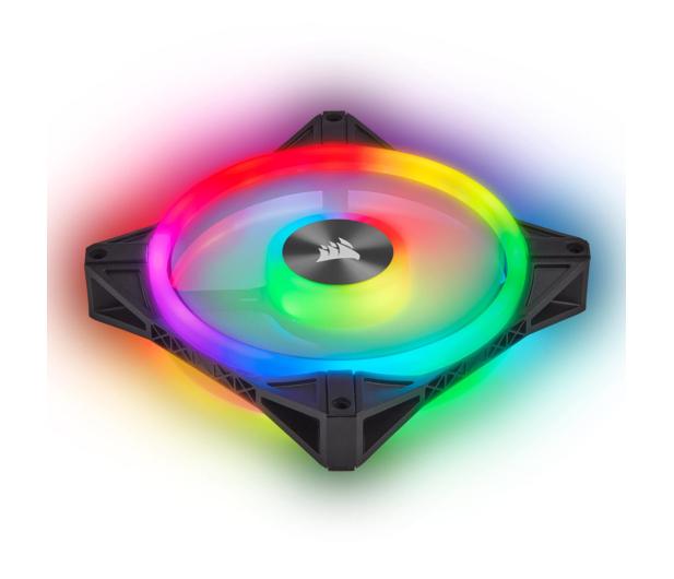 Corsair iCUE QL120 RGB PWM 120 mm 3pack + Lighting Node  - 529995 - zdjęcie 8