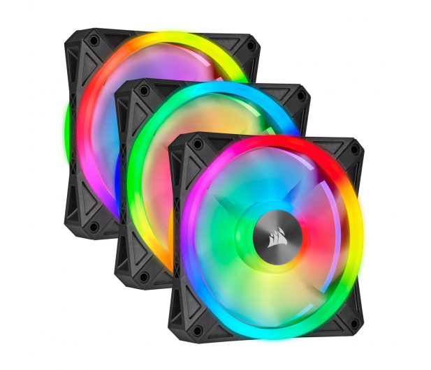 Corsair iCUE QL120 RGB PWM 120 mm 3pack + Lighting Node  - 529995 - zdjęcie