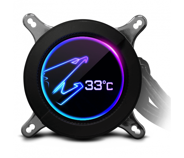 Gigabyte Aorus Liquid Cooler RGB 240 2x120mm - 525212 - zdjęcie 4