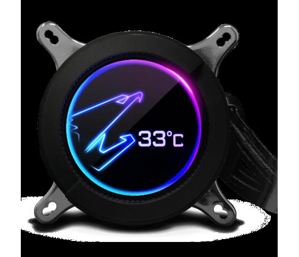 Gigabyte Aorus Liquid Cooler RGB 280 2x140mm - 525215 - zdjęcie 4