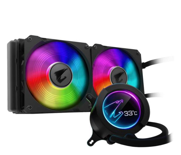 Gigabyte Aorus Liquid Cooler RGB 280 2x140mm - 525215 - zdjęcie