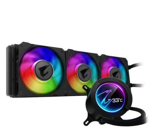 Gigabyte Aorus Liquid Cooler RGB 360 3x120mm - 525217 - zdjęcie
