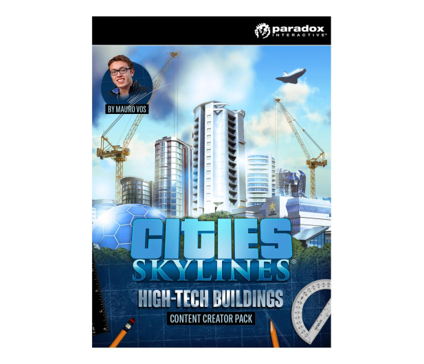 Paradox Interactive Cities Skylines HighTech Buildings (DLC) ESD Steam - 522950 - zdjęcie