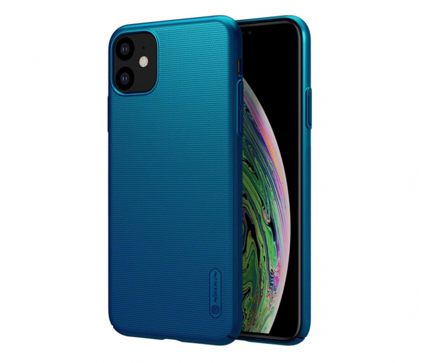 Nillkin Super Frosted Shield do iPhone 11 niebieski - 526218 - zdjęcie