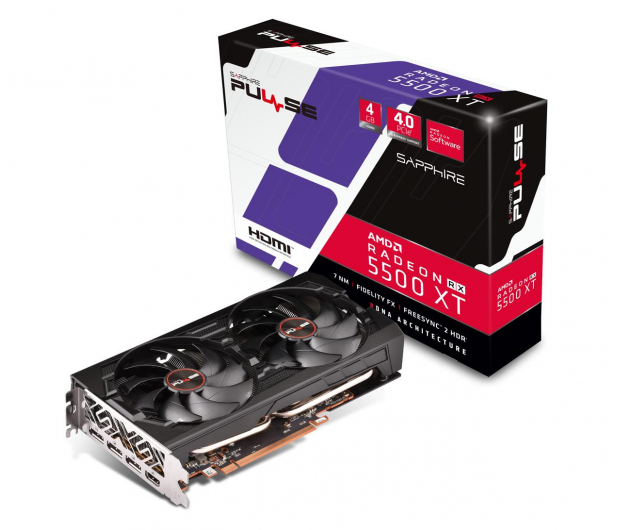 Sapphire  Radeon RX 5500 XT PULSE 4GB GDDR6  - 533867 - zdjęcie