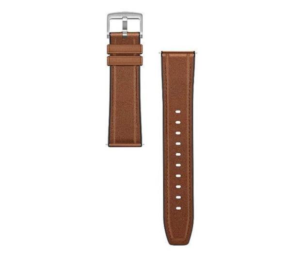 Huawei Pasek Skórzany do Huawei Watch GT 46mm ciemny brąz - 533747 - zdjęcie