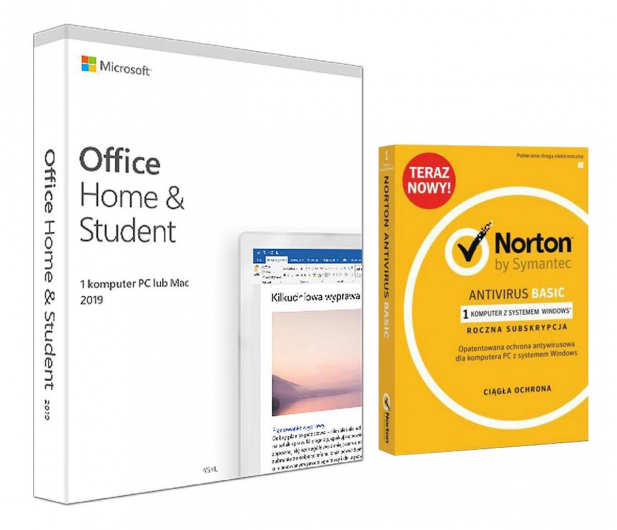 Microsoft Office 2019 Home & Student + Norton  - 535264 - zdjęcie