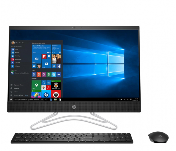 HP 24 AiO A9-9425/8GB/480/Win10Px IPS Black - 536558 - zdjęcie