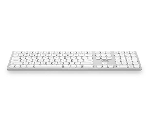 x-kom Aluminium Wireless Keyboard (Srebrna) - 516246 - zdjęcie