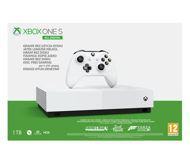 Microsoft Xbox One S 1TB All-Digital Edition - 530942 - zdjęcie 5