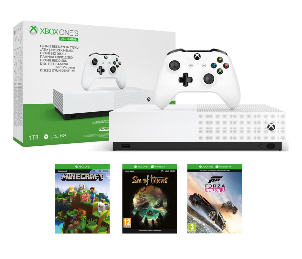 Microsoft Xbox One S 1TB All-Digital Edition - 530942 - zdjęcie