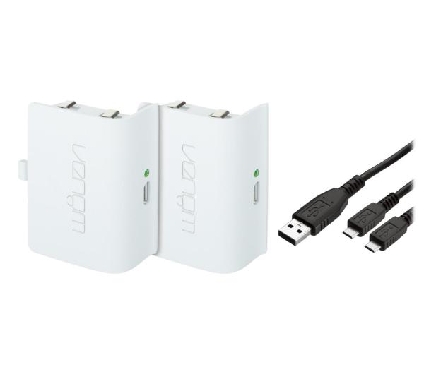 Venom XBO Twin Battery Pack + 2 metrowy kabel - white - 530792 - zdjęcie