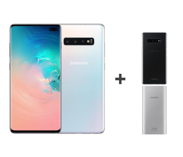Samsung Galaxy S10+ G975F Prism White + ZESTAW - 493913 - zdjęcie
