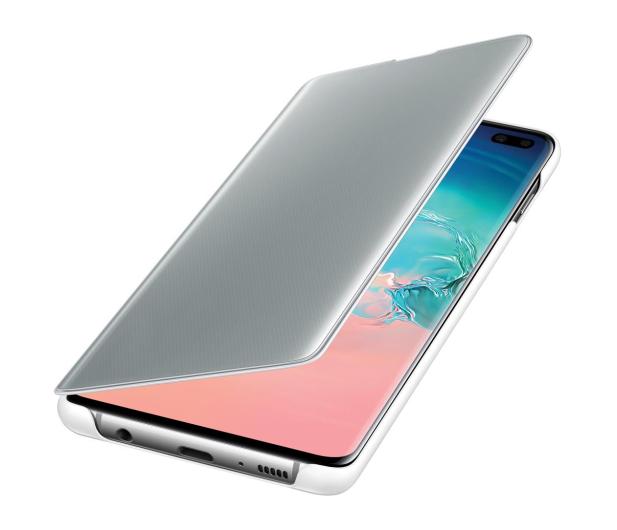 Samsung Clear View Cover do Galaxy S10+ biały - 478384 - zdjęcie