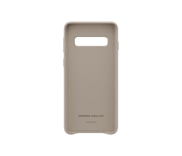 Samsung Leather Cover do Galaxy S10 szary - 478368 - zdjęcie 3