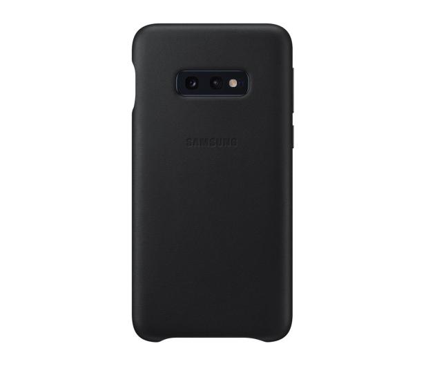 Samsung  Leather Cover do Galaxy S10e czarny - 478330 - zdjęcie