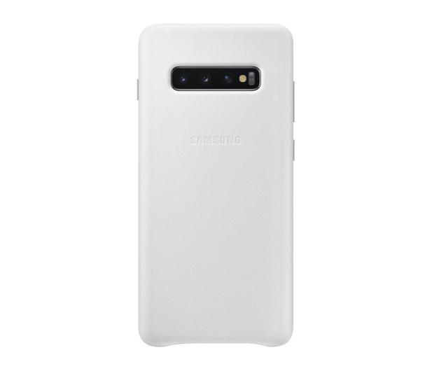 Samsung Leather Cover do Galaxy S10+ biały - 478402 - zdjęcie