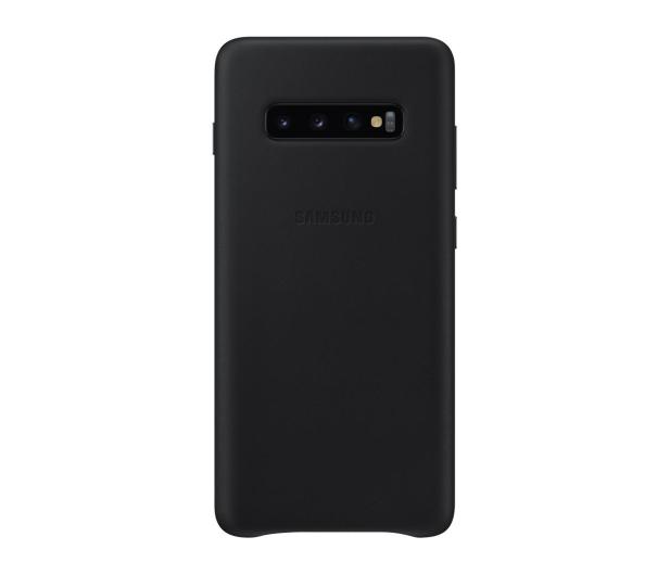 Samsung Leather Cover do Galaxy S10+ czarny - 478401 - zdjęcie