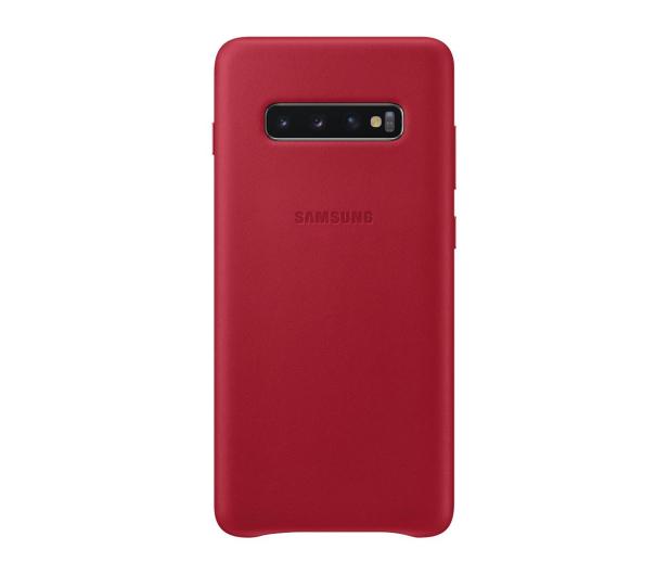 Samsung Leather Cover do Galaxy S10+ czerwony - 478408 - zdjęcie