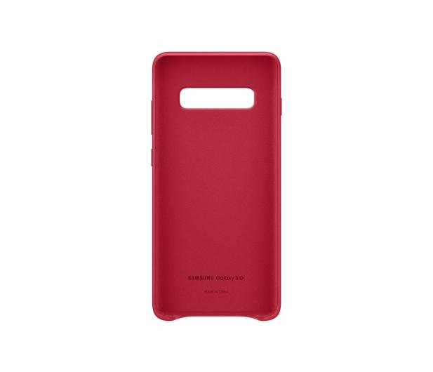 Samsung Leather Cover do Galaxy S10+ czerwony - 478408 - zdjęcie 3