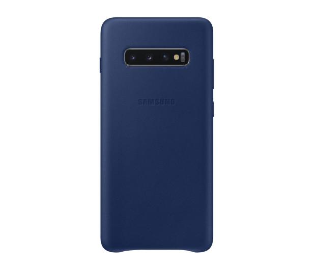 Samsung Leather Cover do Galaxy S10+ granatowy - 478407 - zdjęcie