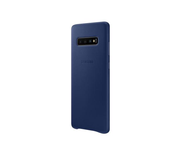 Samsung Leather Cover do Galaxy S10+ granatowy - 478407 - zdjęcie 4