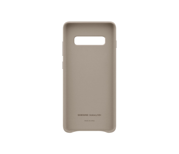 Samsung Leather Cover do Galaxy S10+ szary - 478404 - zdjęcie 3