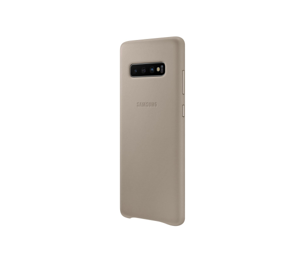 Samsung Leather Cover do Galaxy S10+ szary - 478404 - zdjęcie 4